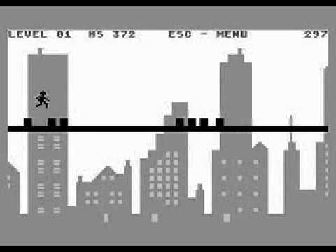 Line Runner - Atari 8-bit gameplay