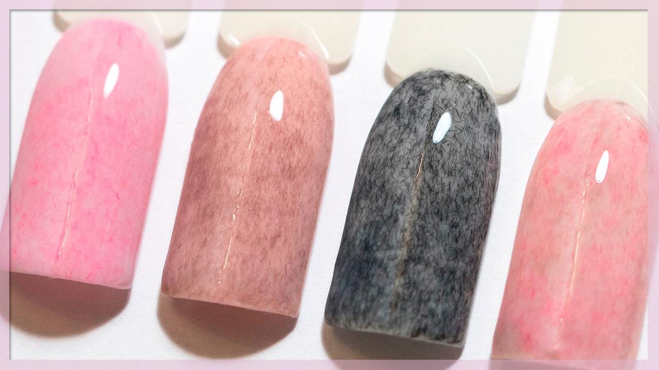 Гель-лак с эффектом ПЛЮШ. Plush Effect маникюр. Дизайн ногтей с флоком