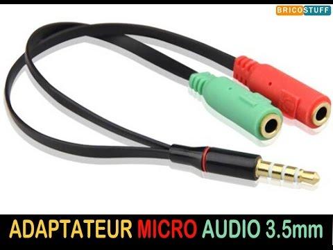 Adaptateur répartiteur pour casque audio