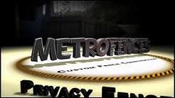 Metro Fences Tampa. Custom privacy fence installation Tampa, FL