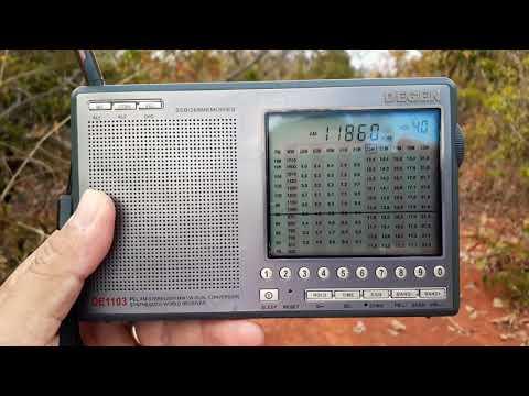 Degen 1103 - Republic Of Yemen Radio 11860 kHz.