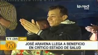 José Aravena llegó al evento a beneficio en crítico estado de salud