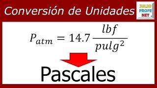 CONVERSIÓN DE UNIDADES DE PRESIÓN: Lbf/pulg² → Pascales