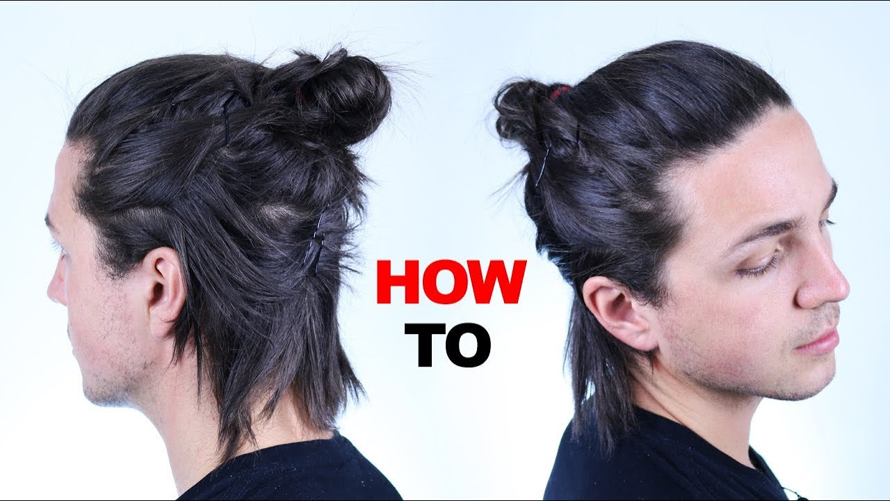 Half Way Man Bun Tutorial Mens Hair Styles Youtube