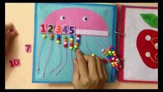 Quiet book for kid - Skill practice book 8/felt book/ busy book