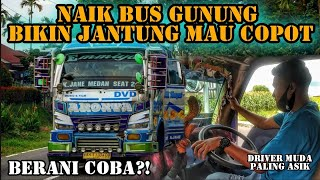Download lagu Naik Bus Gunung || Serasa jantung mau copot. Berani Coba?