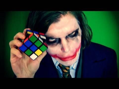 JOKER VS RUBIK'S CUBE (How To Solve The Rubik's Cube)