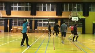 20171202 [追] 福岡 ソフトバレー 初心者体験☆ 実戦練習動画 thumbnail