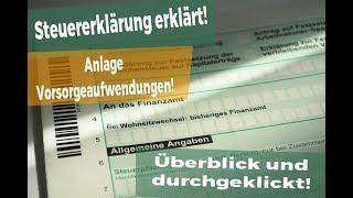 Steuererklärung 2017: Anlage Vorsorgeaufwendungen! Das musst DU wissen!