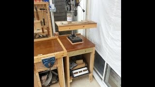 The New Pillar Drill Stand: Simple Scrap Project! Mortice And Tenoned.
