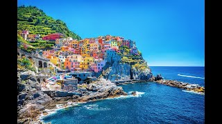 Manarola village   Landscape  Step by Step Acrylic Painting on Canvas for Beginners thumbnail