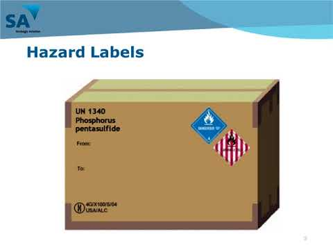 DG Training Module 4 – Marking & Labelling