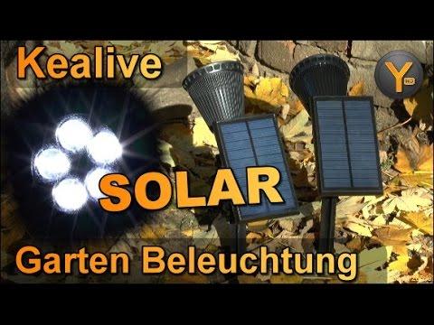 Led Spot Garten ~ Kealive outdoor solar led spot für garten balkon youtube