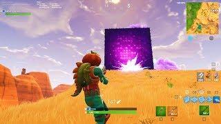 Consegui Destruir O Cubo Gigante No Fortnite..