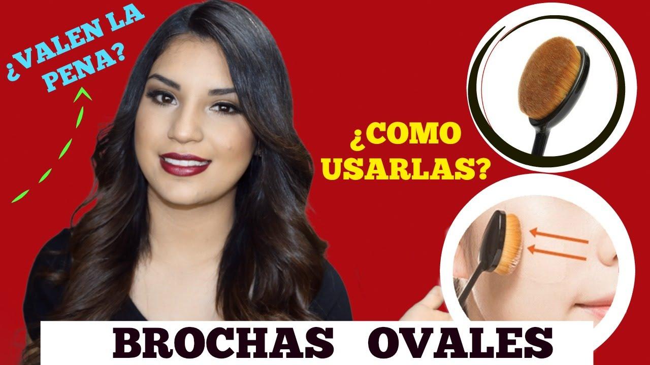 Como usar brochas ovales maquillaje usando brochas - Como barnizar con brocha ...