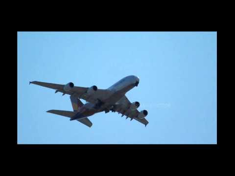 ASIANA AIRLINES A380 OVER LONG ISLAND NY