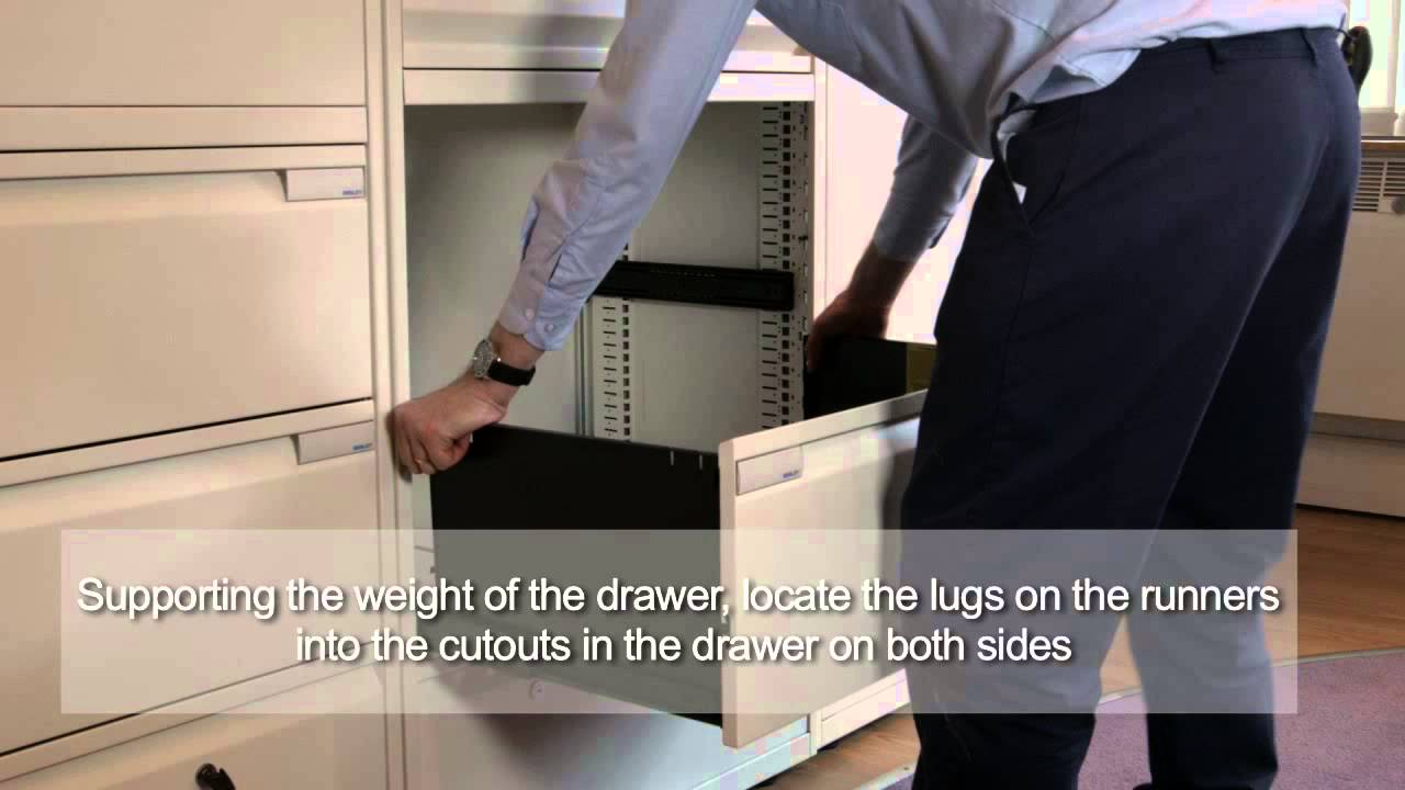 Bisley LateralFile Fit and Remove Drawer Slides and Anti-tilt ...