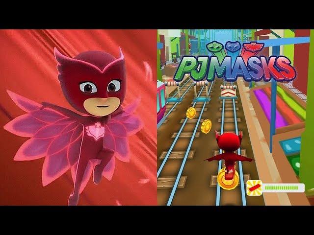 PJ MASKS, Chica Ululette corriendo por Policía 3D - Subway Adventure Mass 3D