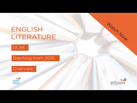 WJEC Eduqas GCSE (9-1) English Literature - New Specification from 2015