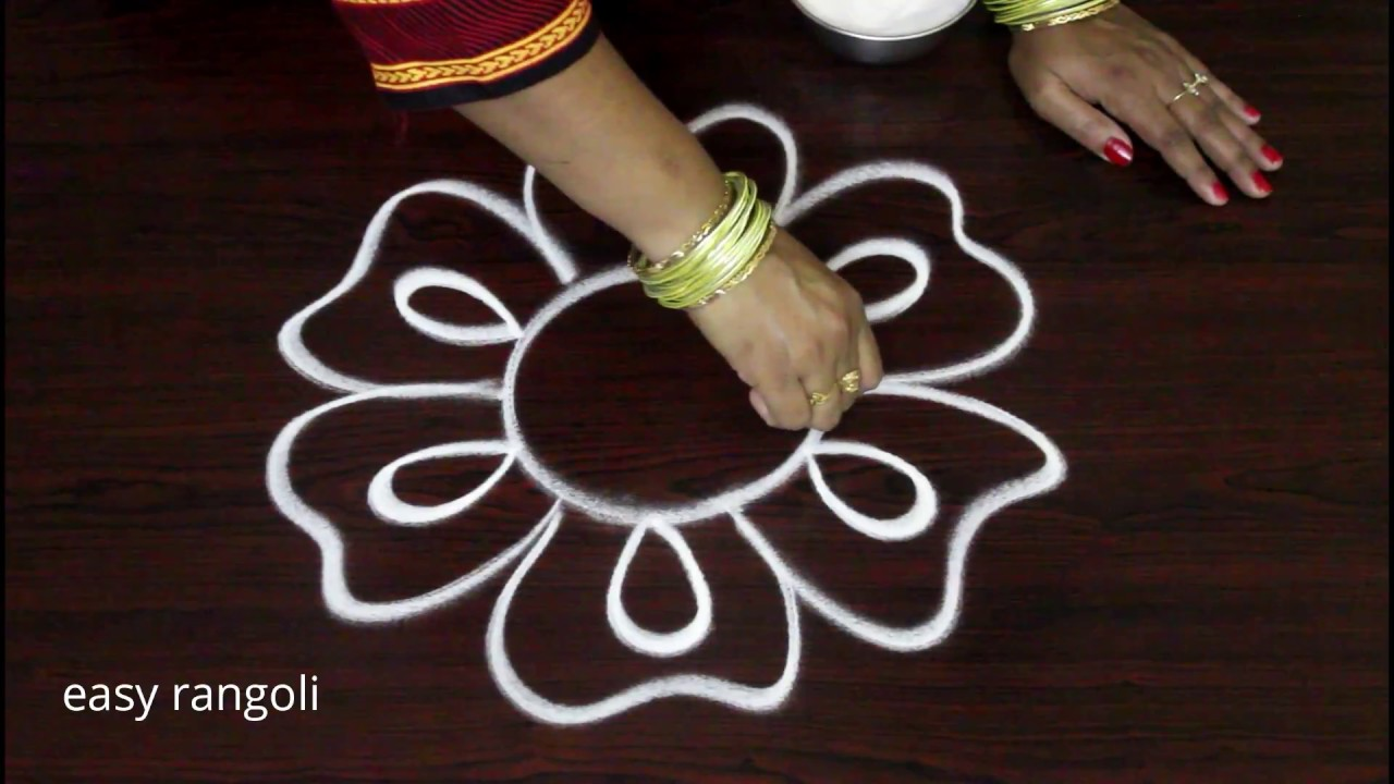 Simple Beginners Freehand Kolam Designs Easy Rangoli Muggulu Without Dots Youtube
