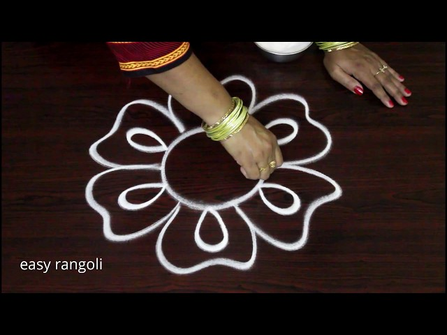 Simple Beginners Freehand Kolam Designs | easy rangoli | Muggulu without dots