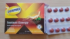 Gerimax Ginseng Tablets Instant Energy
