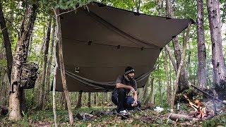 Solo Bushcraft overnight hammock cfire WW2 cookset