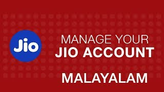 JioCare - How to Manage your account using MyJio app (Malayalam) | Reliance Jio
