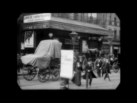 April 1896 - Empire Theater in Leicester Square, London (speed corrected w/ added sound)
