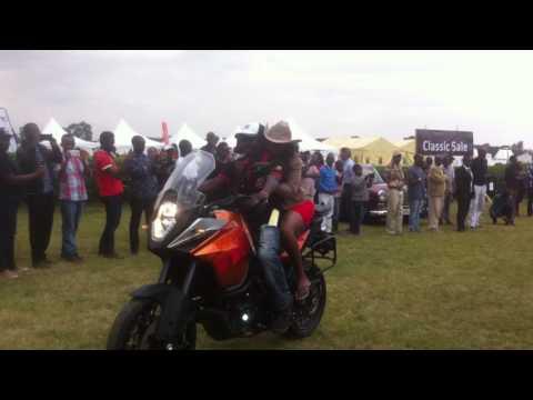 Ugandan bikes lap at the concours de elegance motor show Kenya
