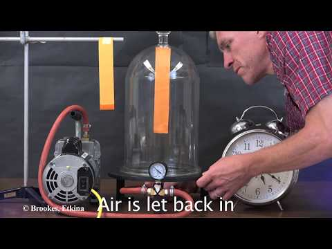 Disappearing alcohol inside a vacuum: Testing experiment