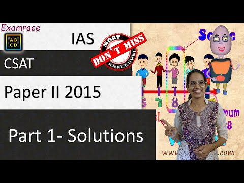 IAS CSAT Paper II 2015 (Part 1) Solved Paper with Detailed Explanations