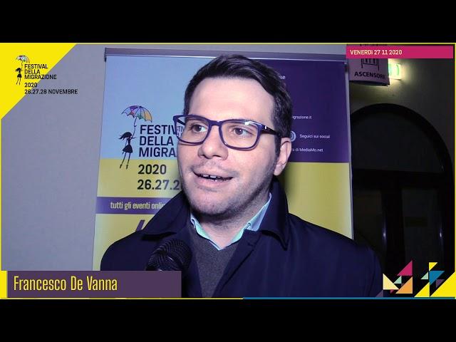 Festival migrazione 2020 // Osservatorio Migranti CRID // Intervista Francesco De Vanna