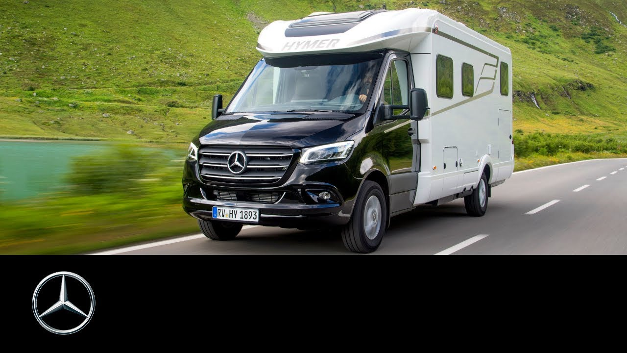 mercedes-benz sprinter and hymer: camper vans - youtube