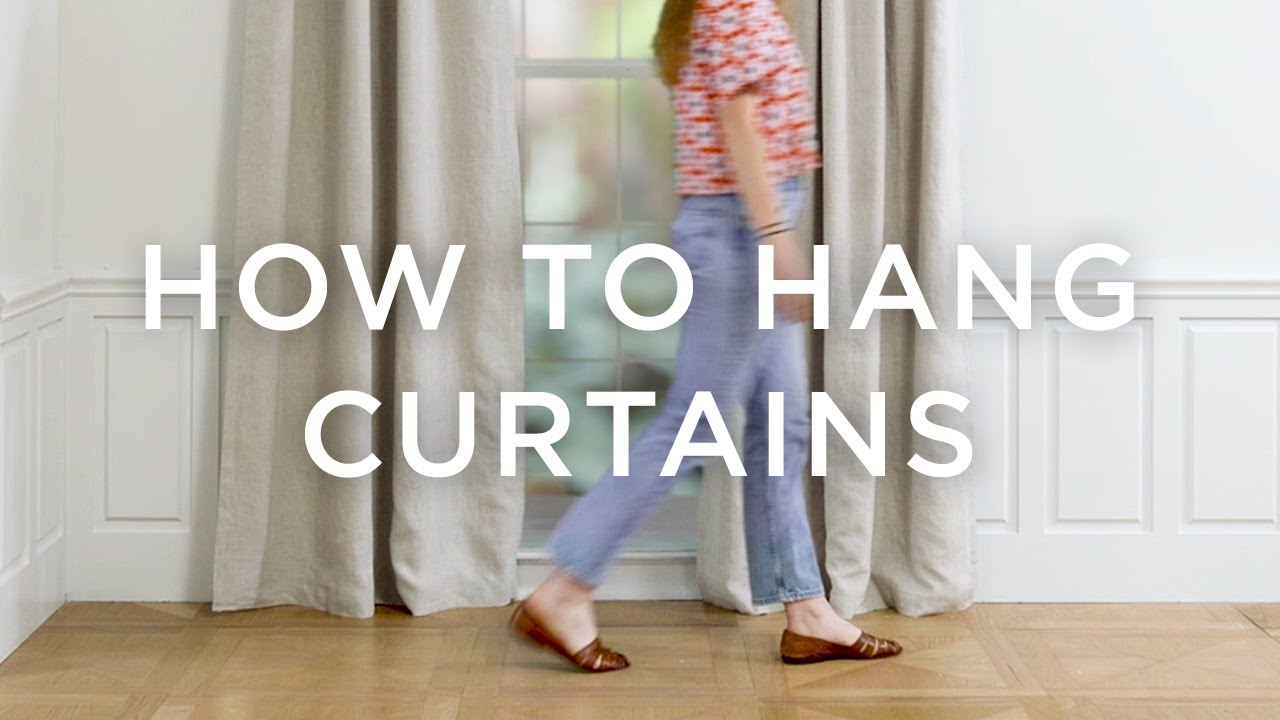 how to hang curtains youtube. Black Bedroom Furniture Sets. Home Design Ideas