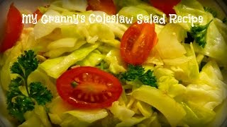My Granny's Raw Cabbage Salad Recipe | By Victoria Paikin