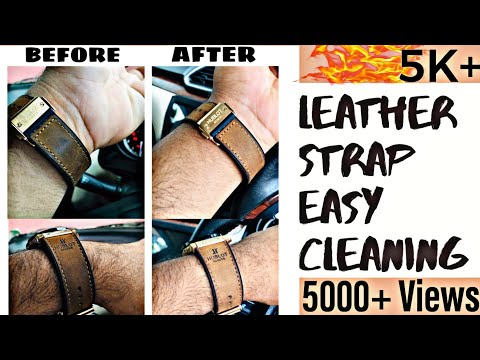 How To Clean A WATCH Leather Strap