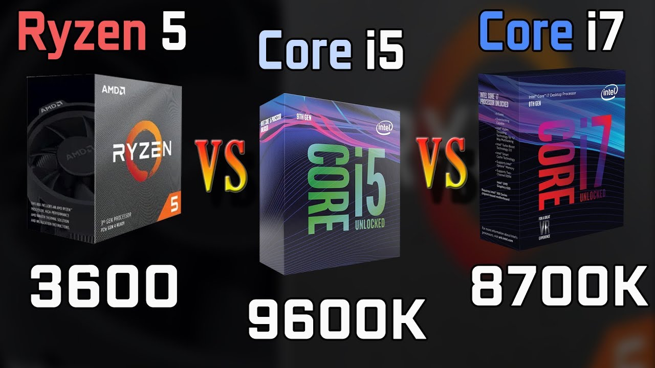 Ryzen 5 3600 vs Core i5-9600K vs i7-8700K Gaming Performance Comparison