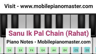 Sanu Ek Pal Chain Piano Tutorial| Raid |Rahat ali |Piano lessons |Piano Music|Online Piano|Mobile