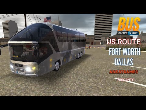 bus-simulator-ultimate,-batman-skin-new-trip-in-us-route,-from-fort-worth-to-dallas,-arkatgames