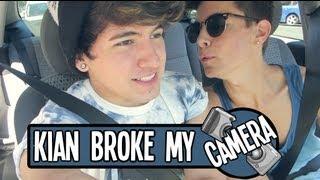 One of jccaylen's most viewed videos: KIAN BROKE MY CAMERA!!!