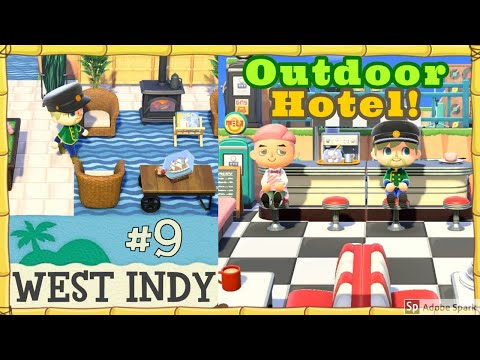 Animal Crossing: New Horizons Island Tour #9 - West Indy (Outdoor Hotel)
