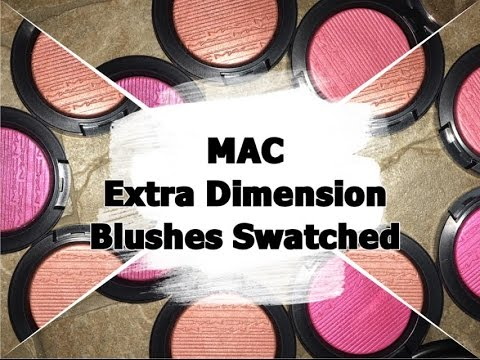 Swatches of mac's extra dimension blushes!!!