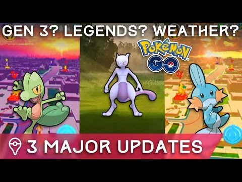3 MAJOR UPDATES COMING TO POKÉMON GO - LEGENDARIES, GEN 3, TRADING, PVP, BREEDING?
