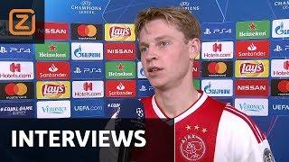 Jack van Gelder met de Jong, Ziyech, ten Hag en Courtois | Champions League 2018/19 | Interviews