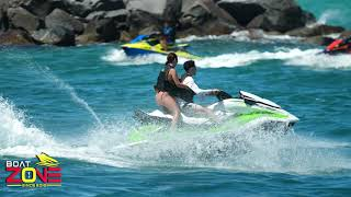 DAMN GIRL YOU NAILED IT !! SHE STOLE THE WHOLE SHOW AT HAULOVER | SHARKS ON THE BEACH | BOAT ZONE