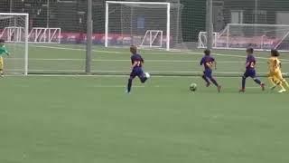 ¡MIRA El Golazoo De Thiago Messi En La Infantiles Del BARCELONA