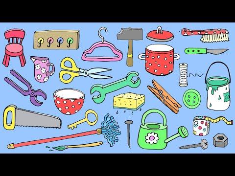 Deutsch lernen: 75 Haushaltsgegenstände – 75 household items - German for children + beginners