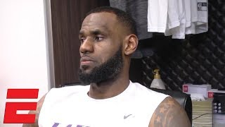 LeBron James says Tyson Chandler gave the Lakers 'great minutes' in win vs. Timberwolves | NBA Sound
