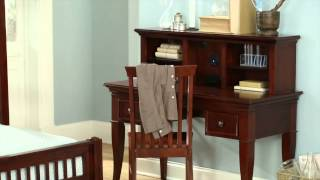 Ne Kids Walnut Street - Writing Desk With Hutch